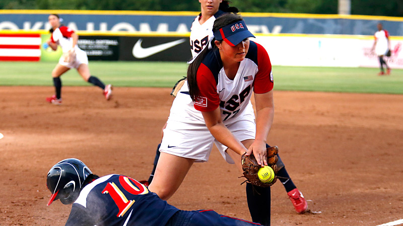 Things started to go south early for Team USA when Japan's Miso Okubo slid safely past Cheridan Hawkins in the first inning.