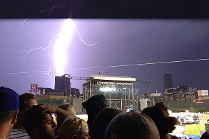When the storm was finally over, Pearl Jam came back out and rocked until 2 a.m.