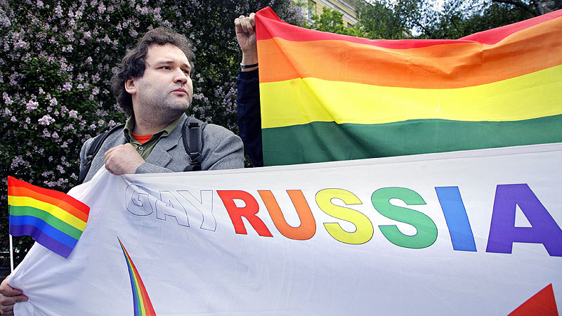 Russian gay protest