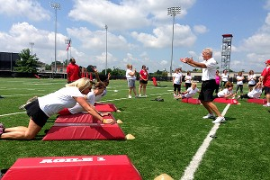 At a recent safety clinic at Ohio State University, Buckeyes special teams coordinator Kerry Coombs walked mothers through specific drills.