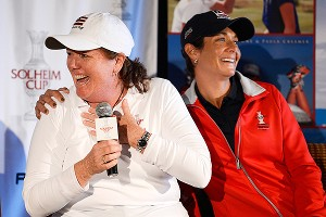 U.S. captain Meg Mallon said she was looking for players known for length and birdie-making ability, and Michelle Wie fit the bill.