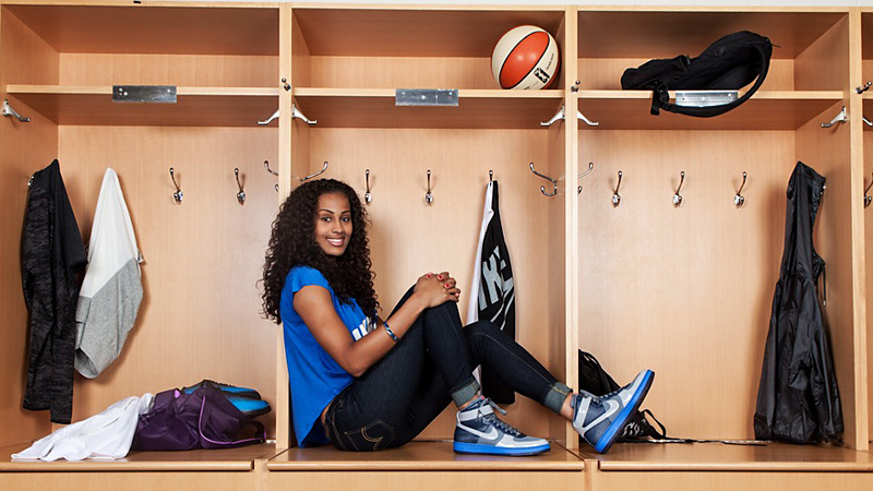Skylar Diggins says she's fitting in with her new teammates in Tulsa and is learning some new tricks off the court as well.