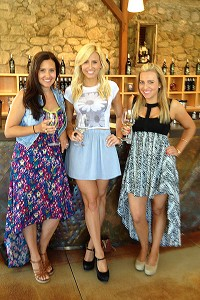 The Force sisters continue their tradition of wine tasting, visiting wineries in Sonoma, Calif., where they can get away from their hectic lives.