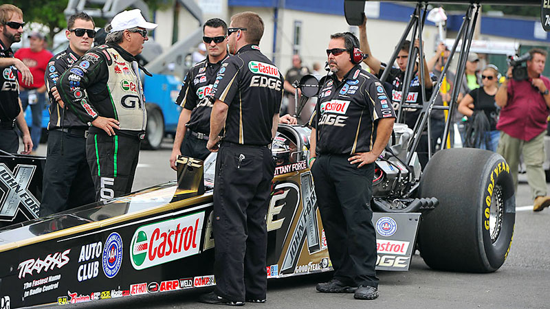 Brittany Force hopes to get her Top Fuel team into the Traxxas Shootout.