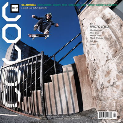 Will Marshall for the cover of Color Issue 10.4, the last one published in square format. The magazine has since undergone a dramatic redesign.