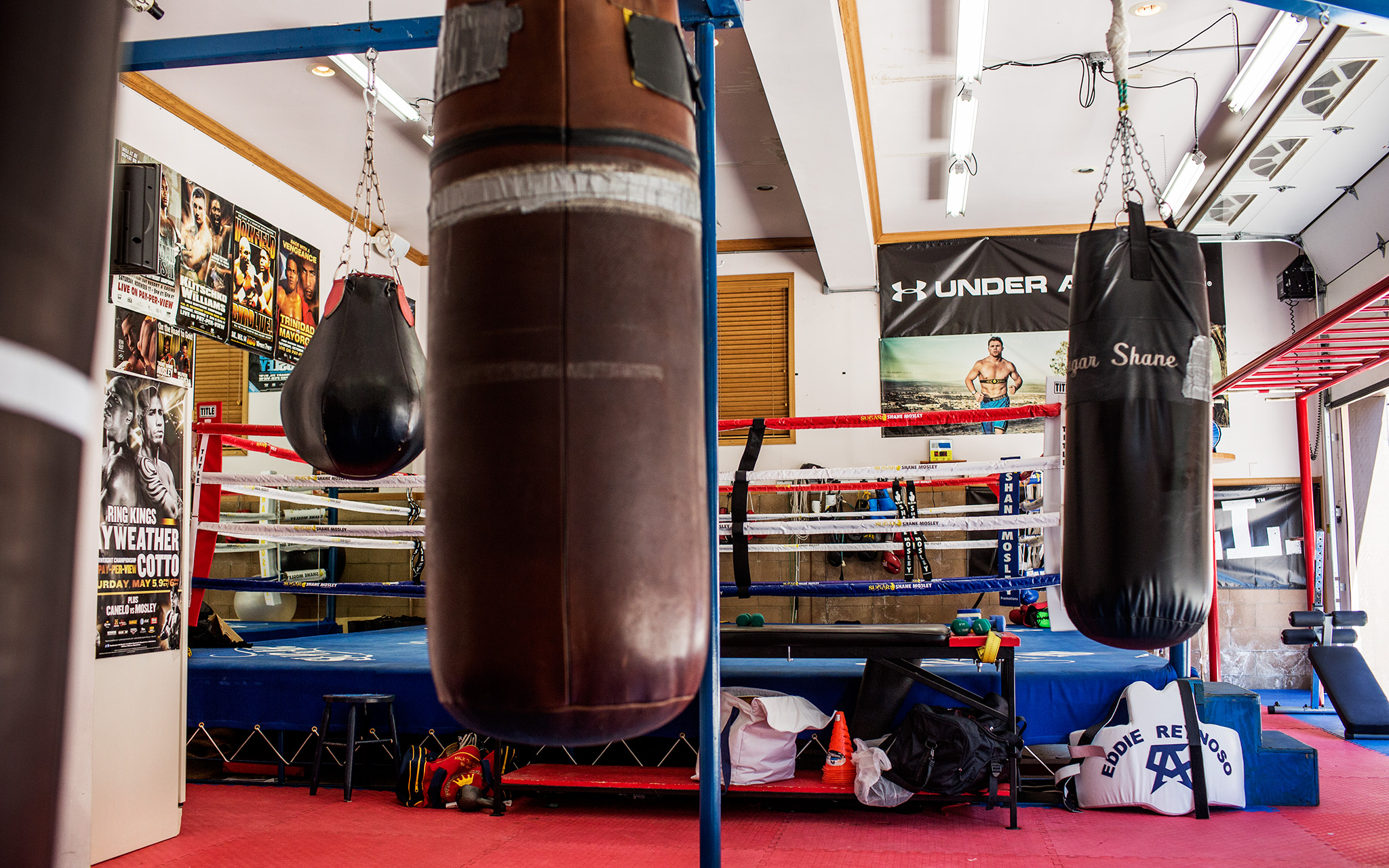 Shane mosely s home gym big bear calif boxing most