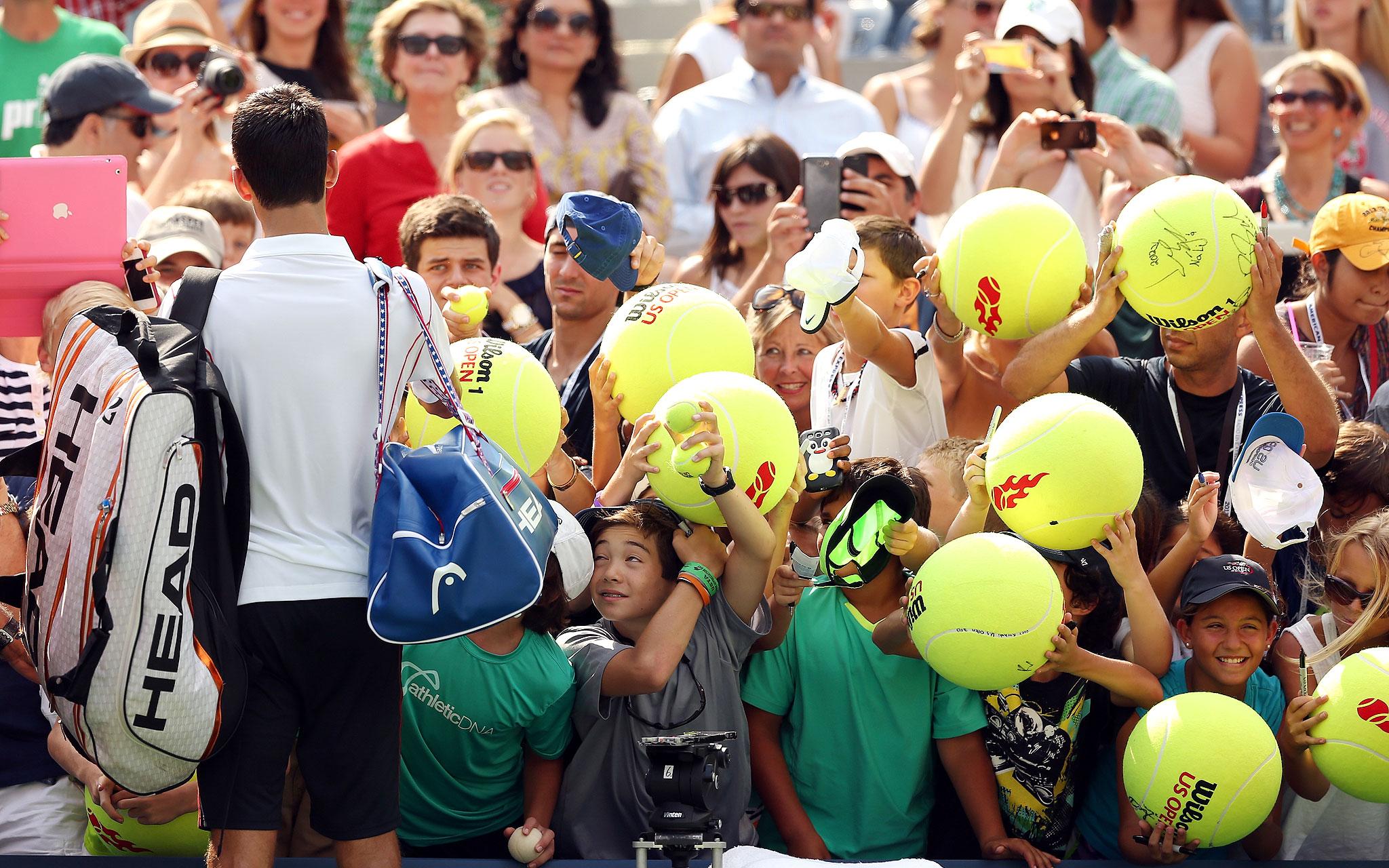 'Me, me, me! Novak, me!'