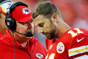 The additions of Andy Reid and Alex Smith should lead to a big jump from last year's 2-14 record for the Chiefs.