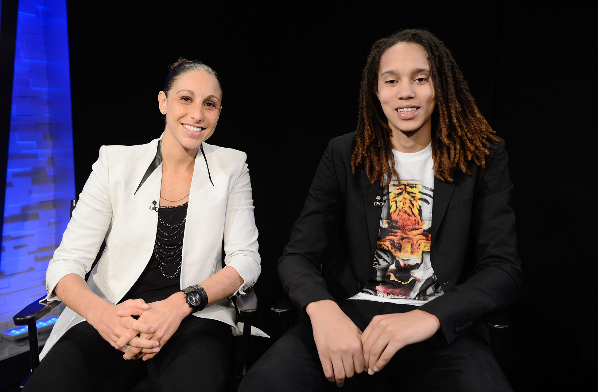 Phoenix Mercury teammates Diana Taurasi and Brittney Griner are elevating the WNBA in their own unique ways. Before beginning their playoff push, they sat down with Robin Roberts.