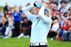 Suzann Pettersen won the Evian Championship on Sunday for her second major title. She also won the LPGA Championship in 2007.