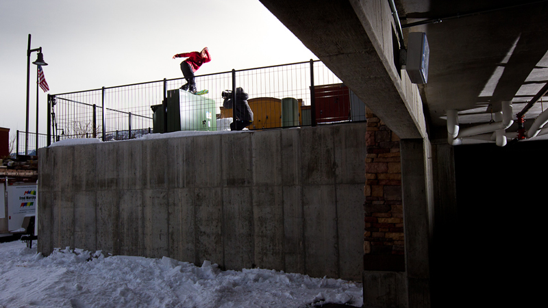 Jordan Mendenhall is just one of many snowboarders throwing hammers in this year's Videograss flick.
