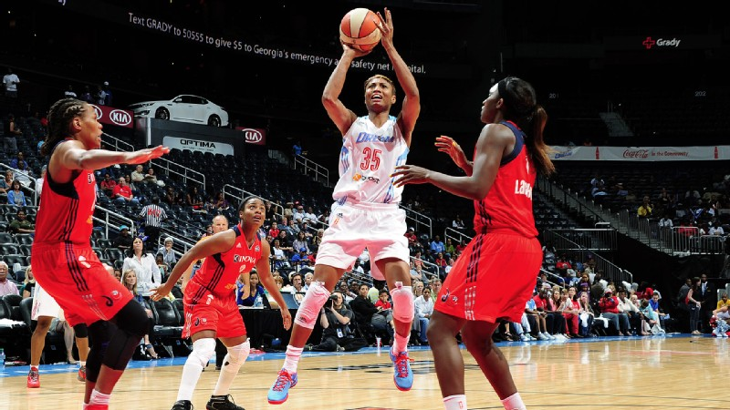 Angel McCoughtry scored 20 of the Dream's 56 points as Atlanta dropped its first-round opening game Thursday against the Washington Mystics. They must win their next game Saturday.