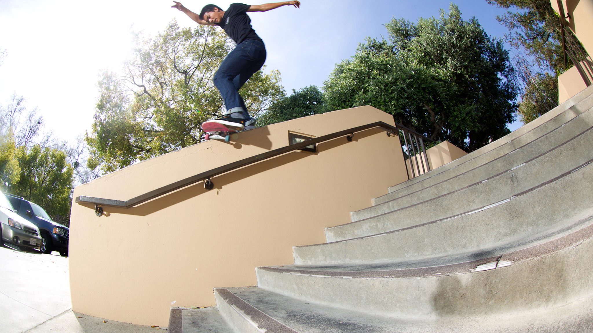 Leabres locks in a Hurricane grind in the Inland Empire.