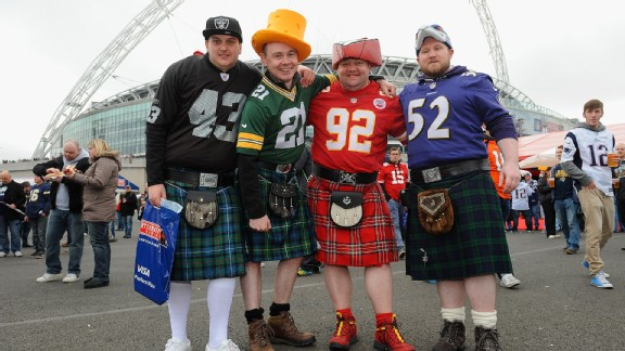 The attire is impressive, but are there enough NFL fans in London to make a franchise successful?