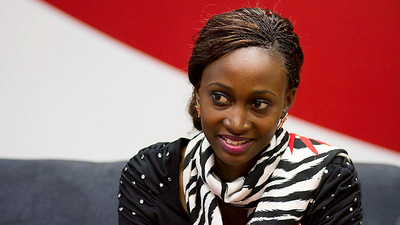 Aisha Nassanga, a sports broadcaster in her home nation of Uganda, got to spend a day at CNN to see its operation and meet female executives.
