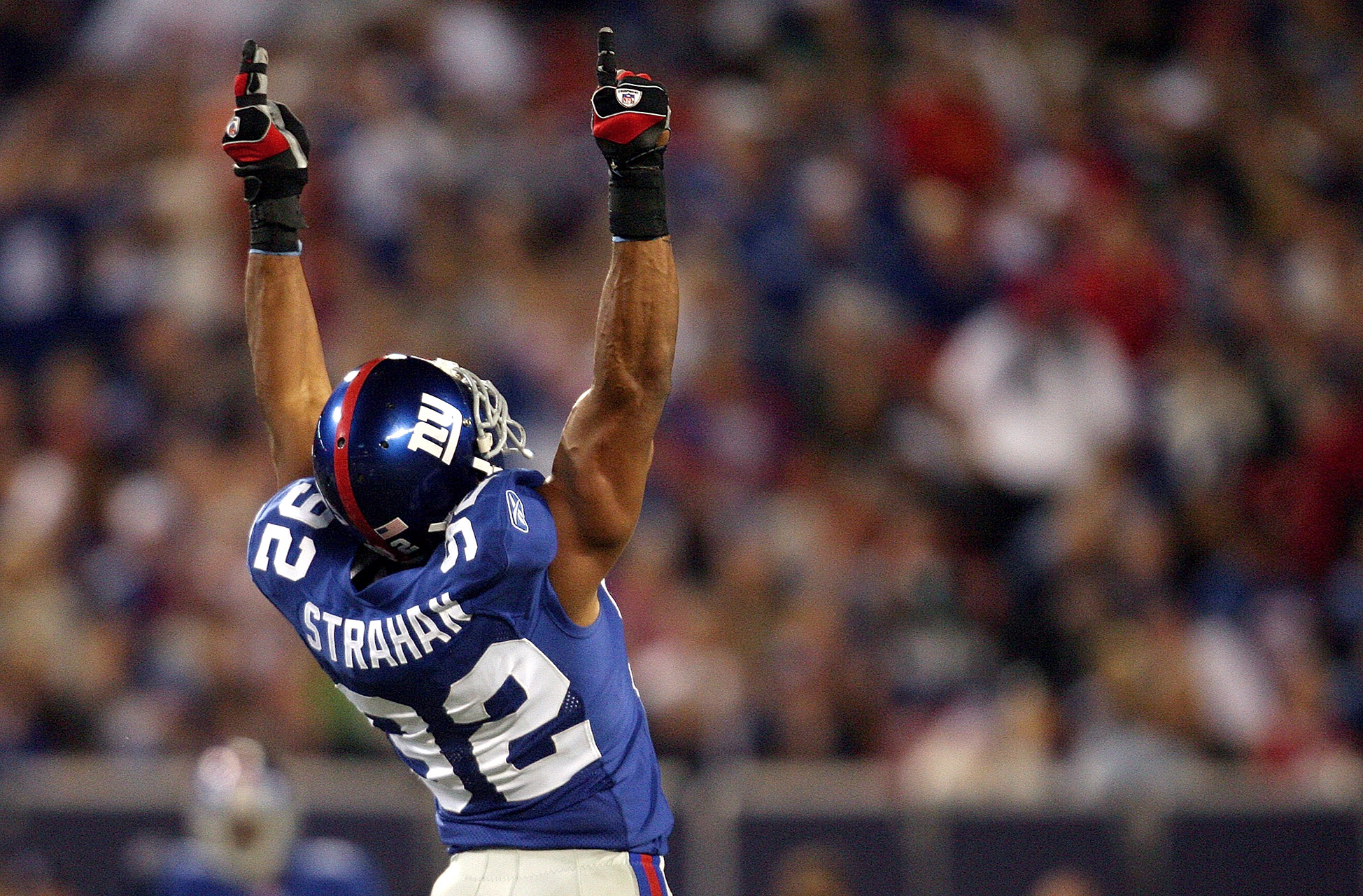 In addition to his tackles and sacks, Michael Strahan was also an emotional leader for the Giants.