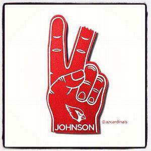 Cardinals foam finger for Rashad Johnson