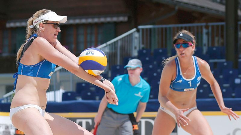 Kerri Walsh Jennings, left, and April Ross, right, each brought the energy with their previous partners, but together the two can feed off each other.