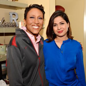 Fatima Saleem says Robin Roberts encouraged her to be stubborn when she returns to Pakistan.