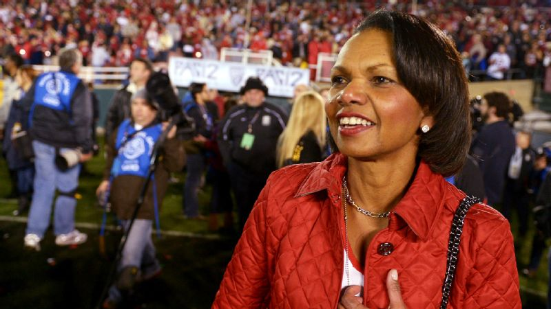 Condoleezza Rice did receive a vote of confidence from Steve Spurrier: Why not? he said.