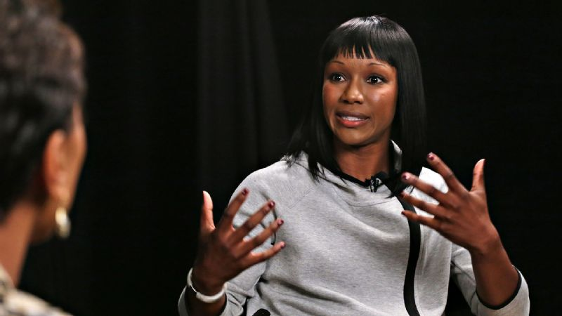 Carmelita Jeter can hold her own with just about anybody when it comes to music, movies and shopping.