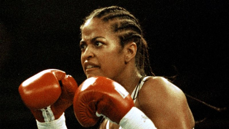 Muhammad Ali sat ringside when Laila Ali mader her pro debut at the Turning Stone Casino Convention Center in Verona,  N.Y.