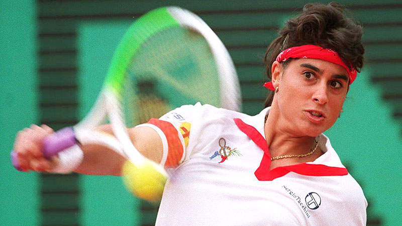 Gabriela Sabatini, who won 27 singles titles in her career, also won the hearts of tennis fans around the world.