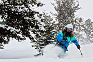 Sally Francklyn skiing in Jackson Hole, Wyo., before her 2012 injury.
