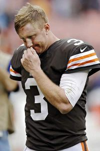 Tuning out the criticism is getting harder and harder for Brandon Weeden.