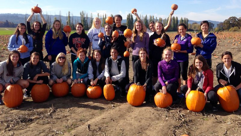Picking the perfect pumpkin is one objective, making memories with teammates is another.