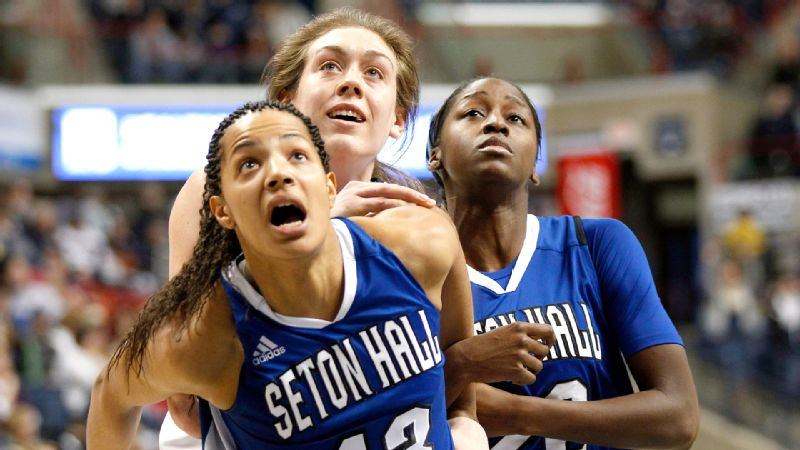 Seton Hall's Alexandra Maseko, a basketball player from Zimbabwe studying international diplomacy, will find out Sunday in Indianapolis if she is the NCAA Woman of the Year.