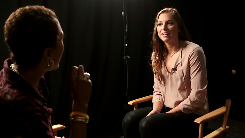 U.S. soccer star Alex Morgan told Robin Roberts during her In The Game interview: As long as you have a passion for something, you have a dream for something, you can achieve it.