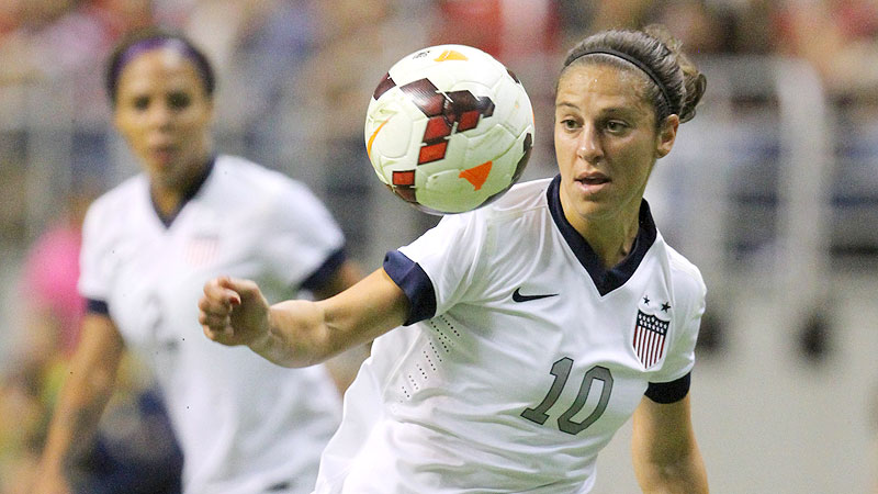 Carli Lloyd scored one of the four goals in the USWNT's 4-0 win over Australia on Sunday.