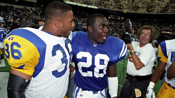 Jerome Bettis and Marshall Faulk enjoyed great success both before and after mid-career trades.