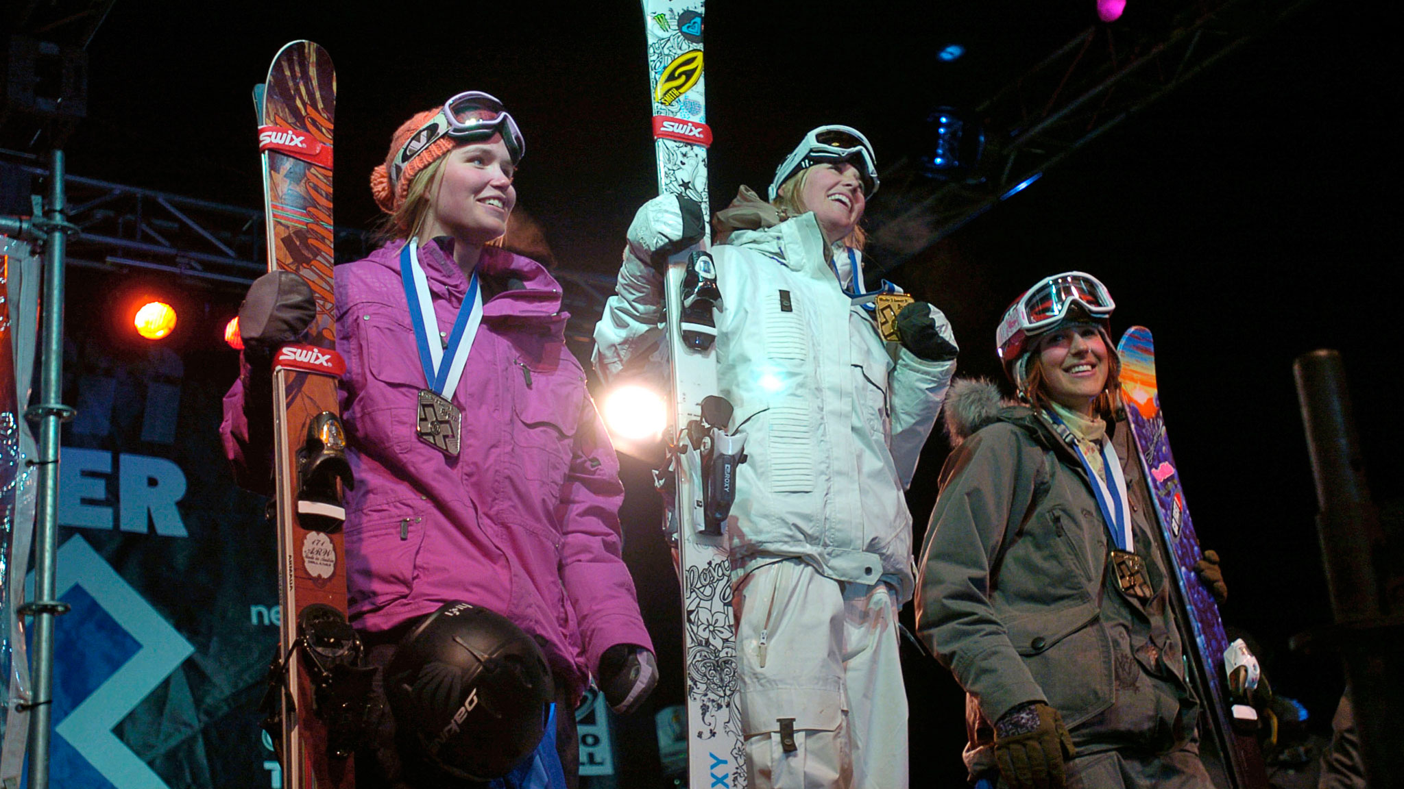 Women's SuperPipe Podium, 2007