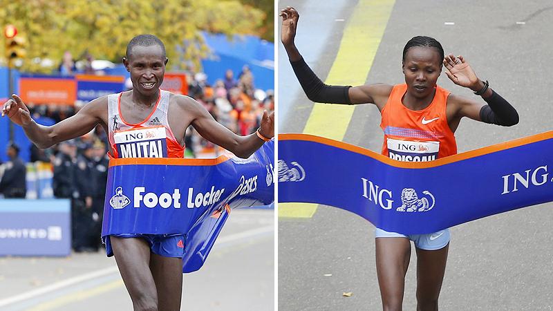 Geoffrey Mutai and Priscah Jeptoo