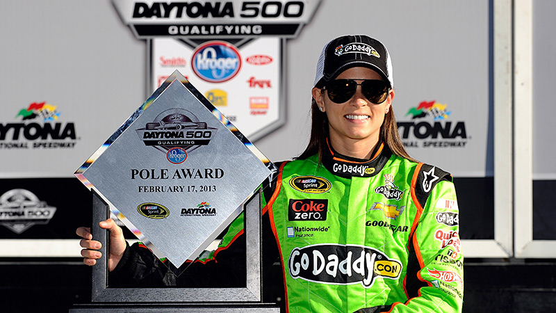 In the biggest race of all, in her rookie season, Danica Patrick did what no woman had ever done: win the pole for the Daytona 500. In fact, no woman had previously won a Sprint Cup pole, period.