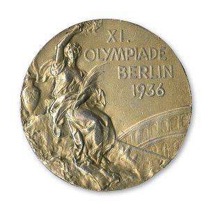 Seen here is the Jesse Owens 1936 gold medal, one of his four Olympic golds, that will be auctioned on SCP Auctions' website on Dec. 7.