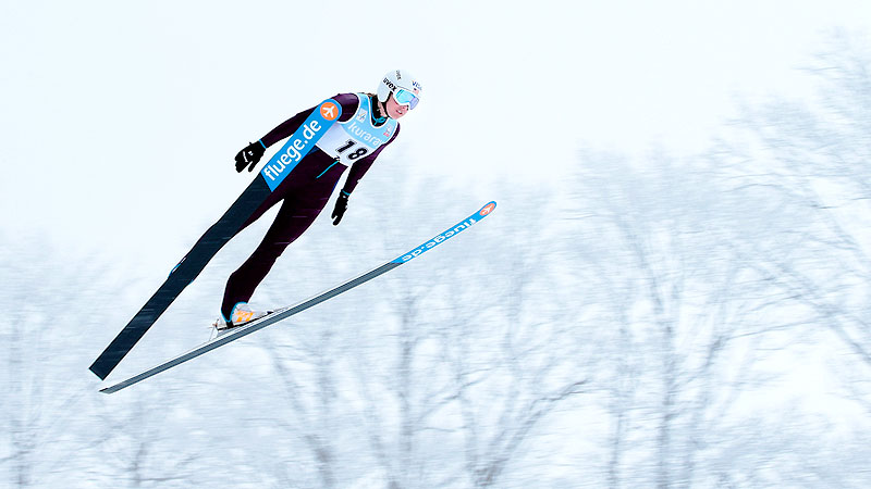 Abby Hughes is hoping to earn one of four spots on the U.S. Olympic ski jumping team.
