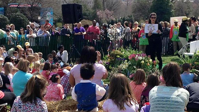 Danica Patrick was selected as a special guest reader at the annual White House Easter Egg Roll and read to children on the South Lawn from the book Go, Dog, Go.