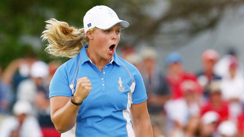 Caroline Hedwall became the first player to go 5-0 in Solheim play and to top it off made the clinching putt for Europe on Sunday. She put the same number of points on the board as Stacy Lewis, Paula Creamer, Morgan Pressel and Cristie Kerr combined.