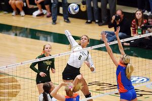 Colorado State senior Samantha Peters, a transfer from Santa Clara, has had a standout final season, recording 192 kills and a team-high 114 blocks.