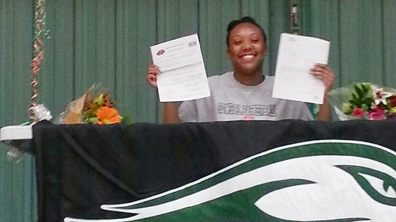 Mandy Coleman, a 6-foot-2 forward from California, signed a national letter of intent to play at Oklahoma State. Mandy is big and strong and has an athletic body, which will fit the physicality of the Big 12, coach Jim Littell said. I(photo Courtesy Oklahoma State)/I