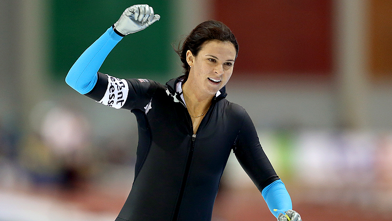 Brittany Bowe set the world record in the 1000 meters in Sunday's World Cup race at the Utah Olympic Oval.