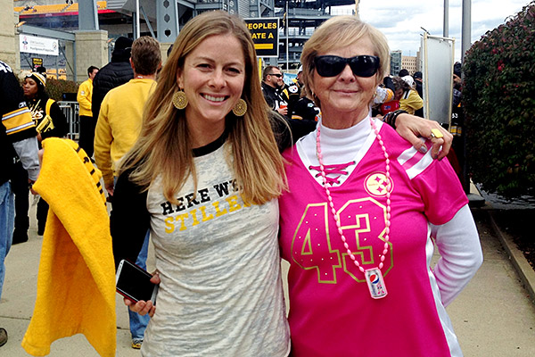 Alyssa's mother, Joy, made the Steelers part of her daughter's upbringing from Day 1.
