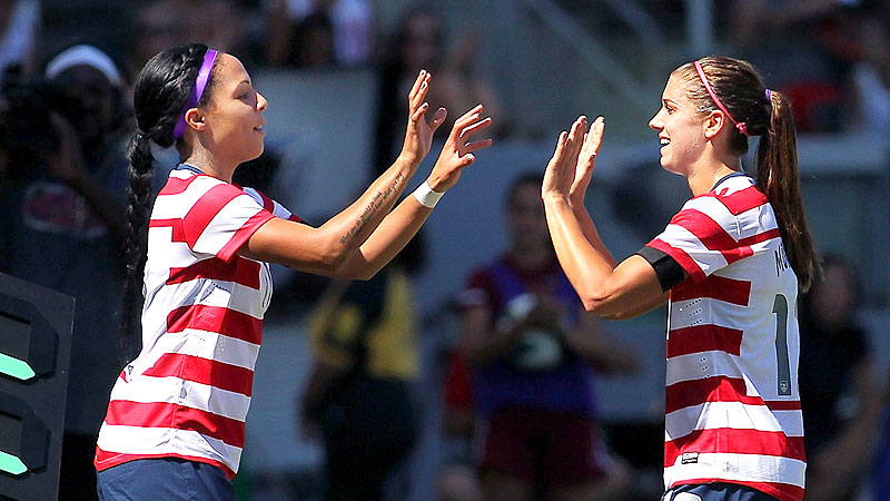 Alex Morgan and Sydney Leroux: Halloween