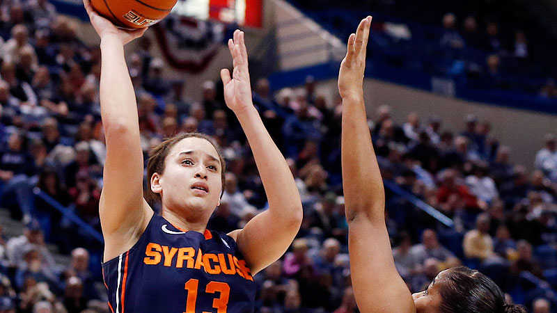 The No. 20 Orange, who have their highest national ranking in program history, have turned in a very strong nonconference schedule, including wins over Texas and Texas A&M and close road losses at Iowa and Arizona State. Opening the ACC slate with NC State and Duke will challenge Syracuse out of the gate. But there's a lot to feel good about for Brianna Butler (pictured) and a program that lost its three top scorers from last season. -- Michelle Smith (Photo: David Butler II/USA TODAY Sports)