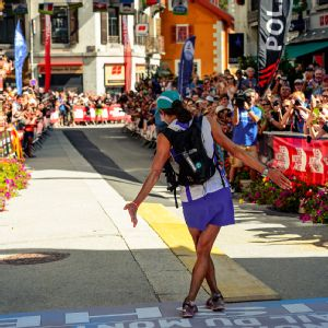 With a curtsy to the Chamonix crowd, Rory Bosio entered the ultra running record books.