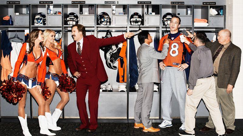 Peyton Manning and Ron Burgundy