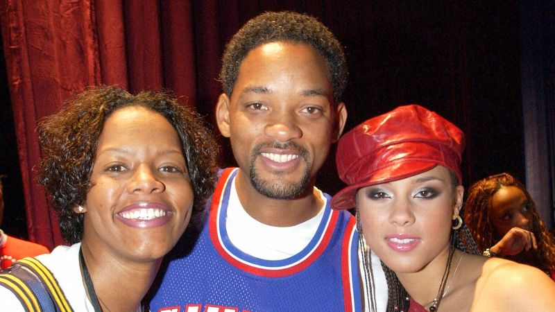 Will Smith and Alicia Keys were lucky enough to get their picture taken with Nikki McCray in 2002.